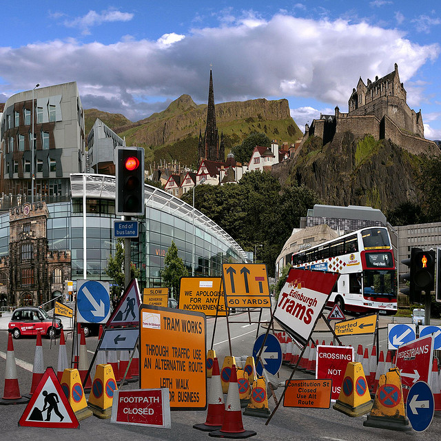 The famous Edinburgh tram disruption